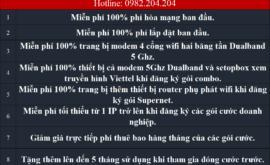 Tổng Đài Lắp Mạng Internet Cáp Quang Wifi Viettel 0982204204