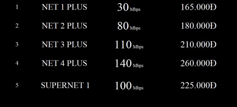Bảng Giá Các Gói Cước Internet Cáp Quang Wifi Viettel Điện Biên 2021