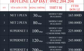 Bảng Giá Các Gói Cước Mạng Internet FTTH Cáp Quang Wifi Viettel Hồng Bàng Hải Phòng 2021