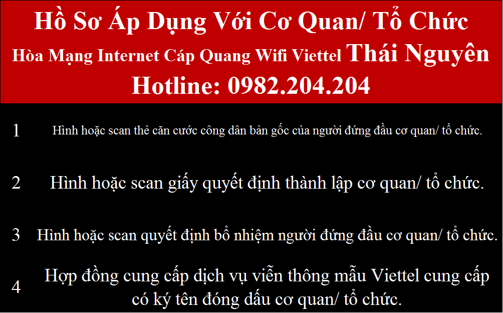 Đăng ký Internet Viettel Thái Nguyên