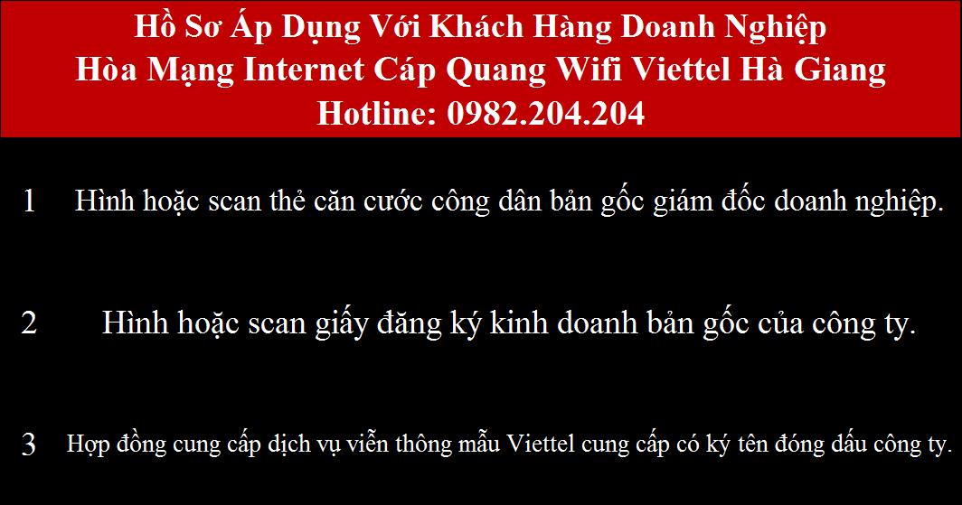 Đăng ký cáp quang Viettel Hà Giang