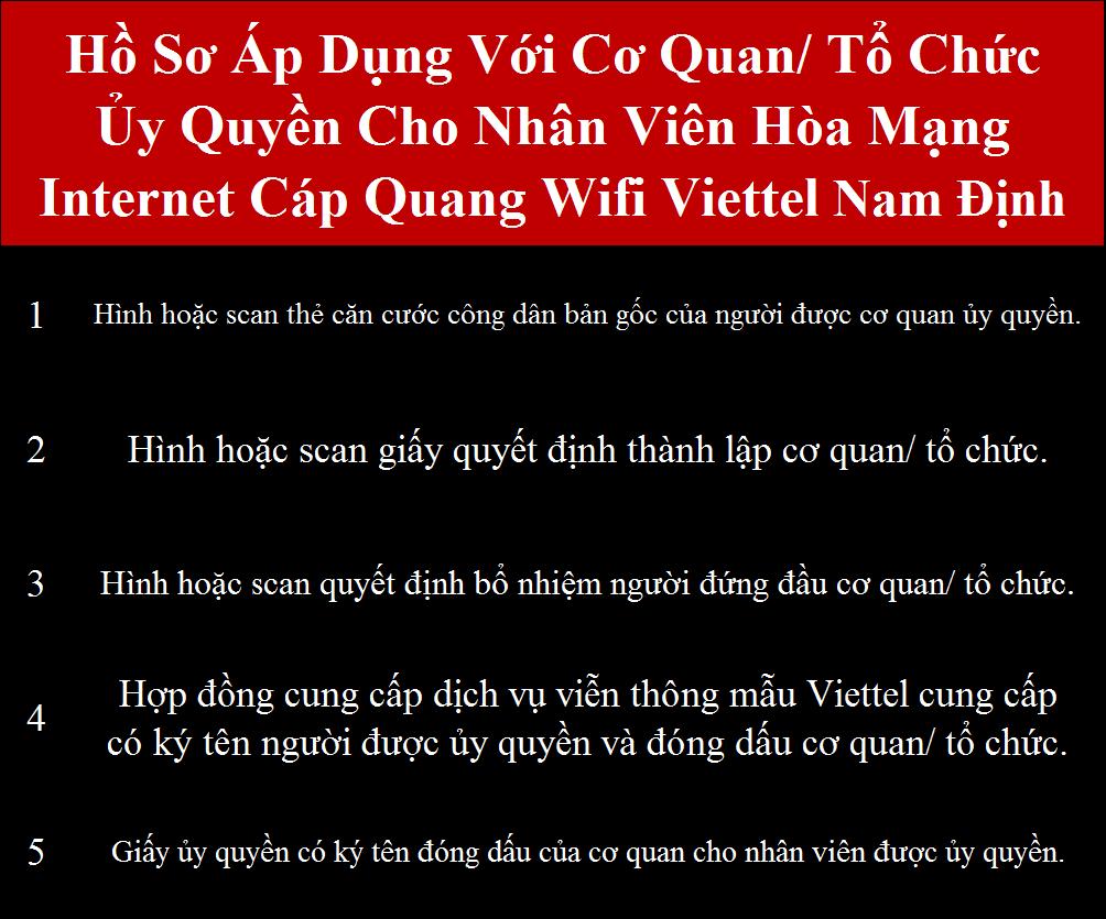 Đăng ký cáp quang Viettel Nam Định