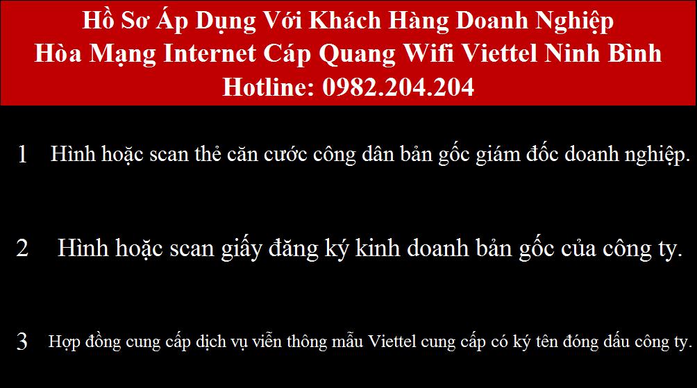 Đăng ký cáp quang Viettel Ninh Bình