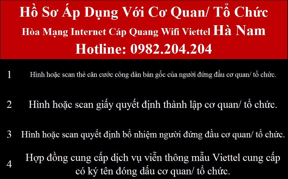 Đăng ký internet Viettel Hà Nam
