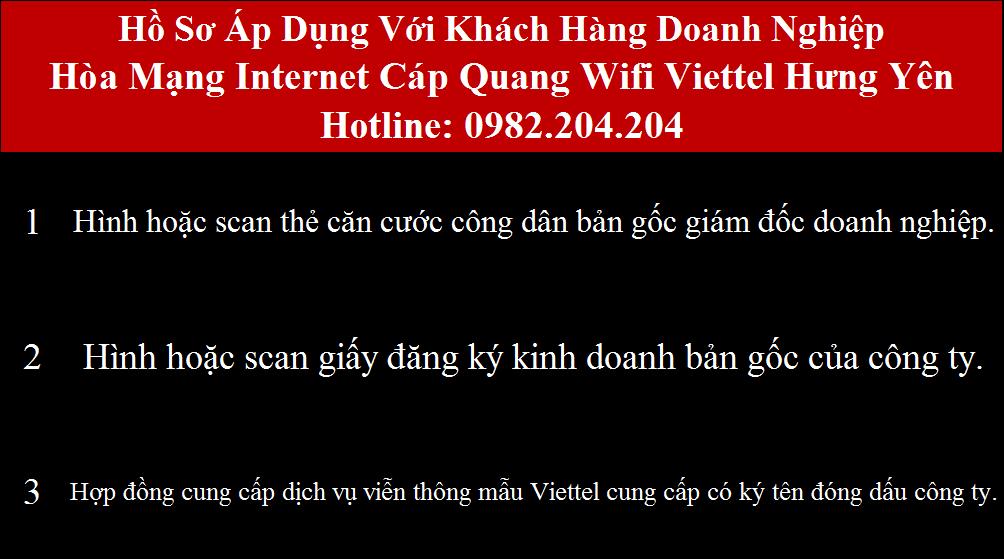 Đăng ký internet Viettel Hưng Yên