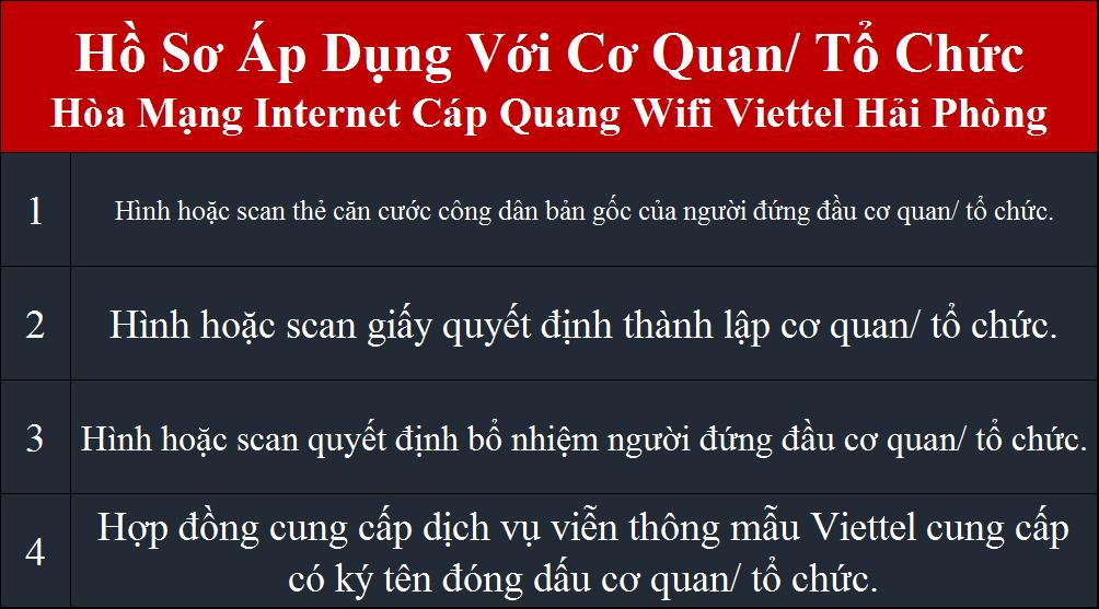 Đăng ký internet Viettel Kiến An Hải PHòng