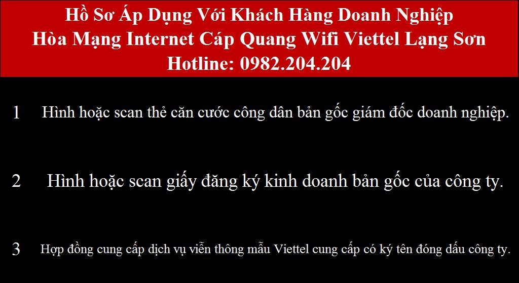 Đăng ký internet Viettel Lạng Sơn