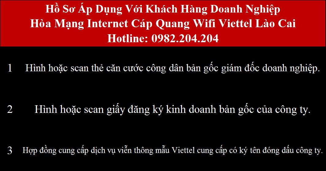 Đăng ký internet Viettel Lào Cai