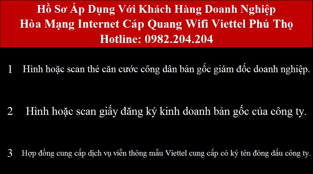 Đăng ký internet Viettel Phú Thọ