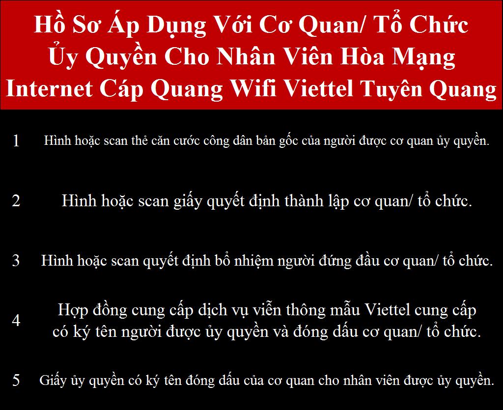 Đăng ký internet Viettel Tuyên Quang