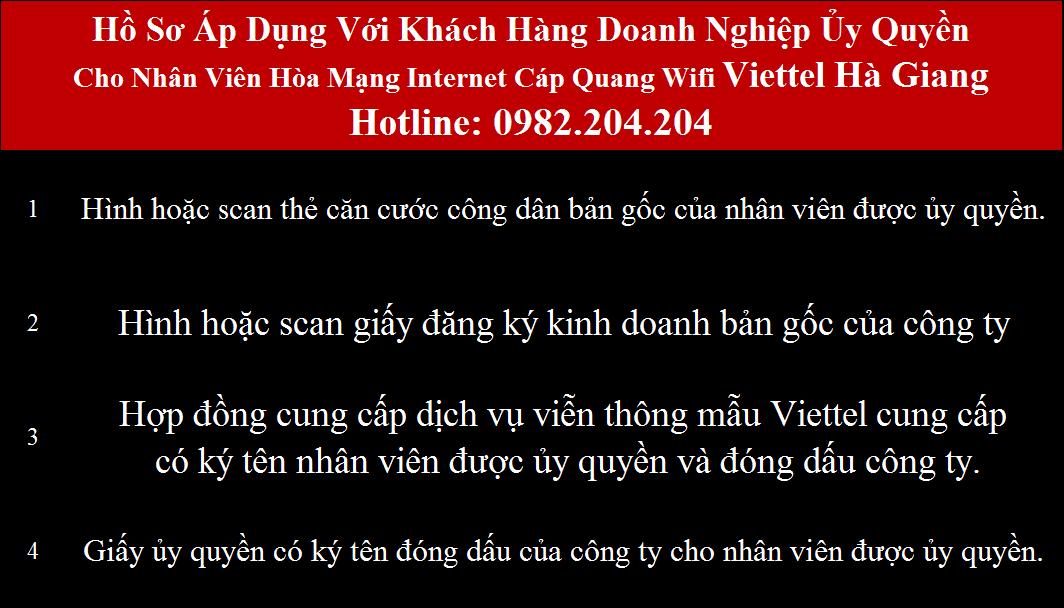 Đăng ký mạng Viettel Hà Giang