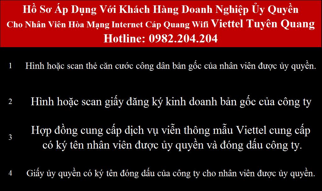 Đăng ký mạng Viettel Tuyên Quang