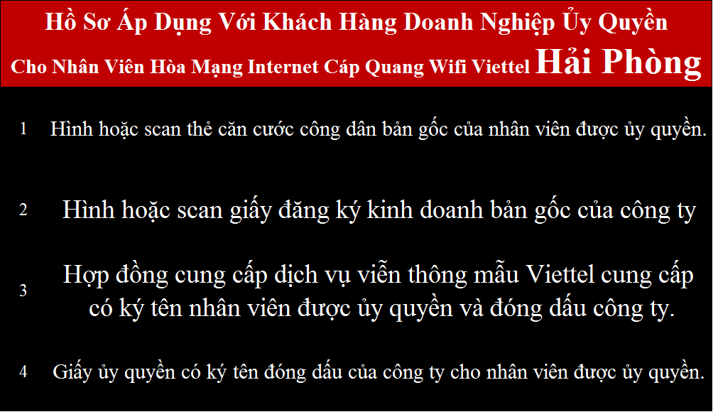 Đăng ký wifi Viettel An Lão Hải Phòng