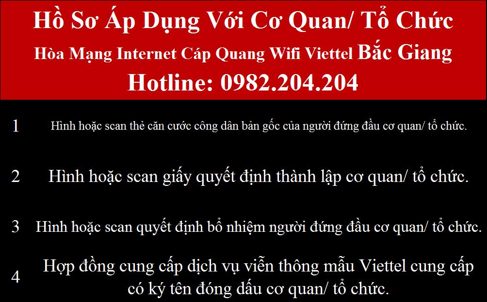 Đăng ký wifi Viettel Bắc Giang