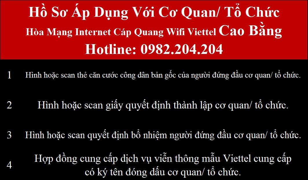 Đăng ký wifi Viettel Cao Bằng