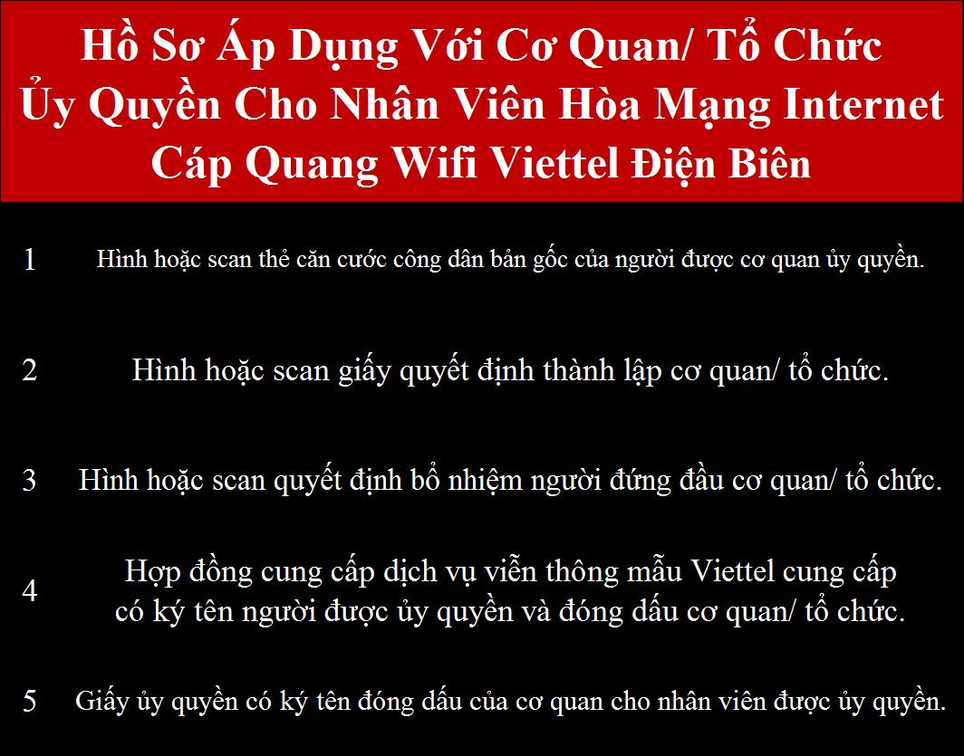 Đăng ký wifi Viettel Điện Biên