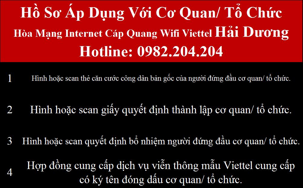 Đăng ký wifi Viettel Hải Dương