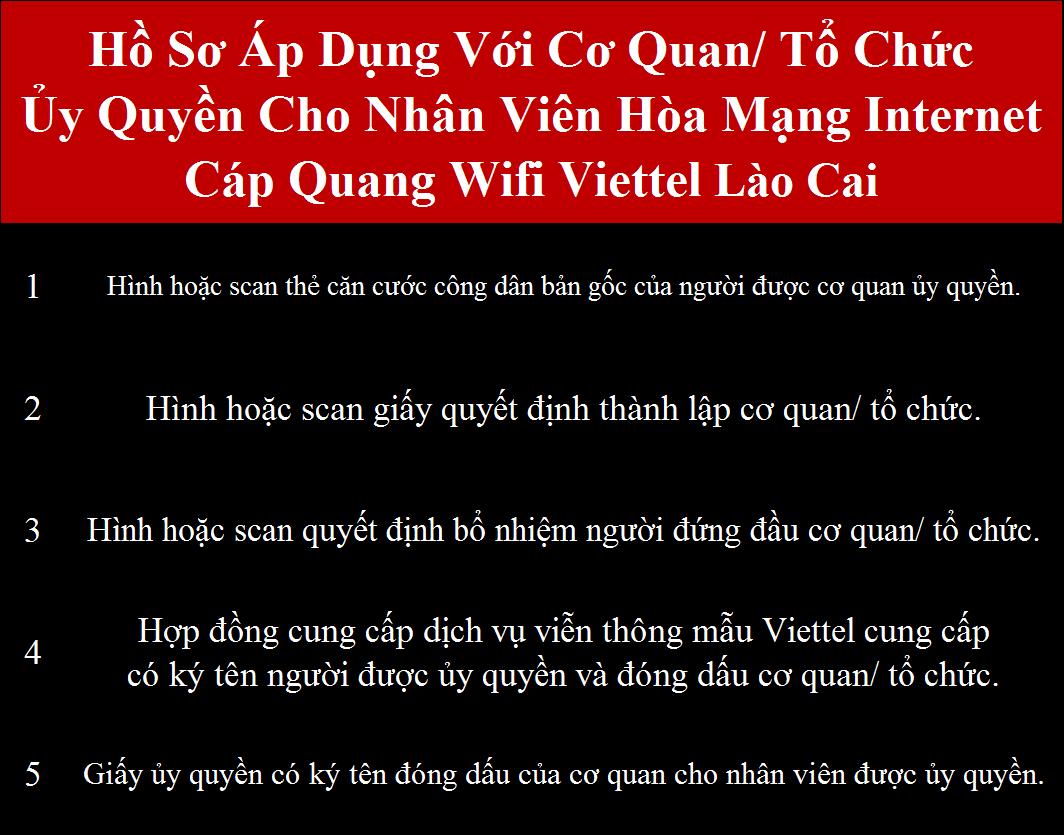 Đăng ký wifi Viettel Lào Cai