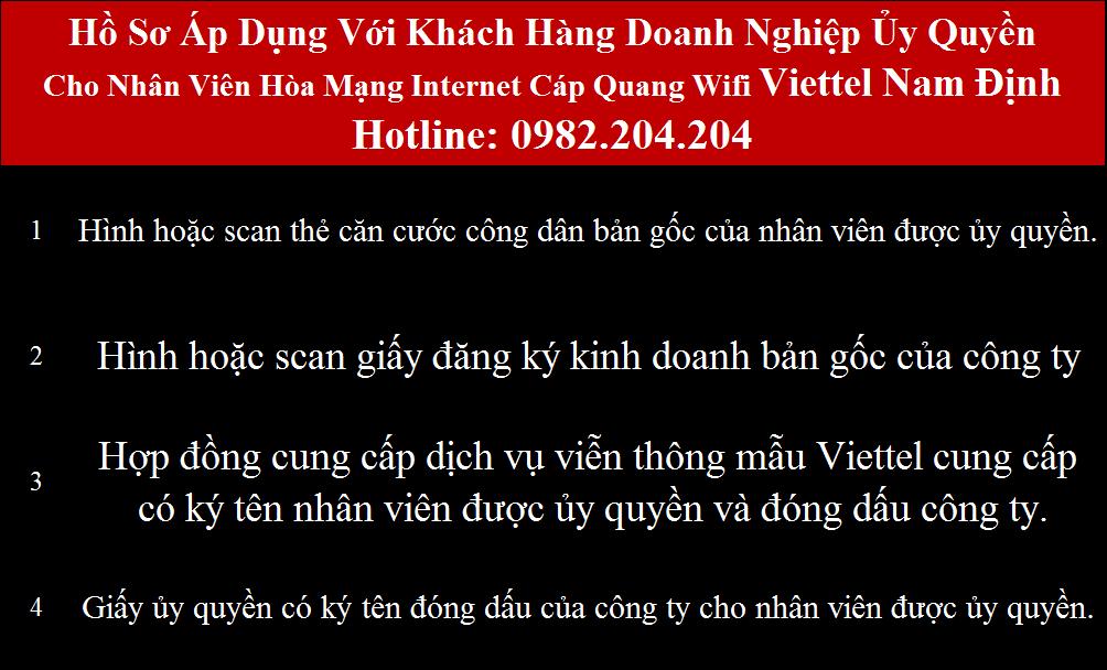 Đăng ký wifi Viettel Nam Định