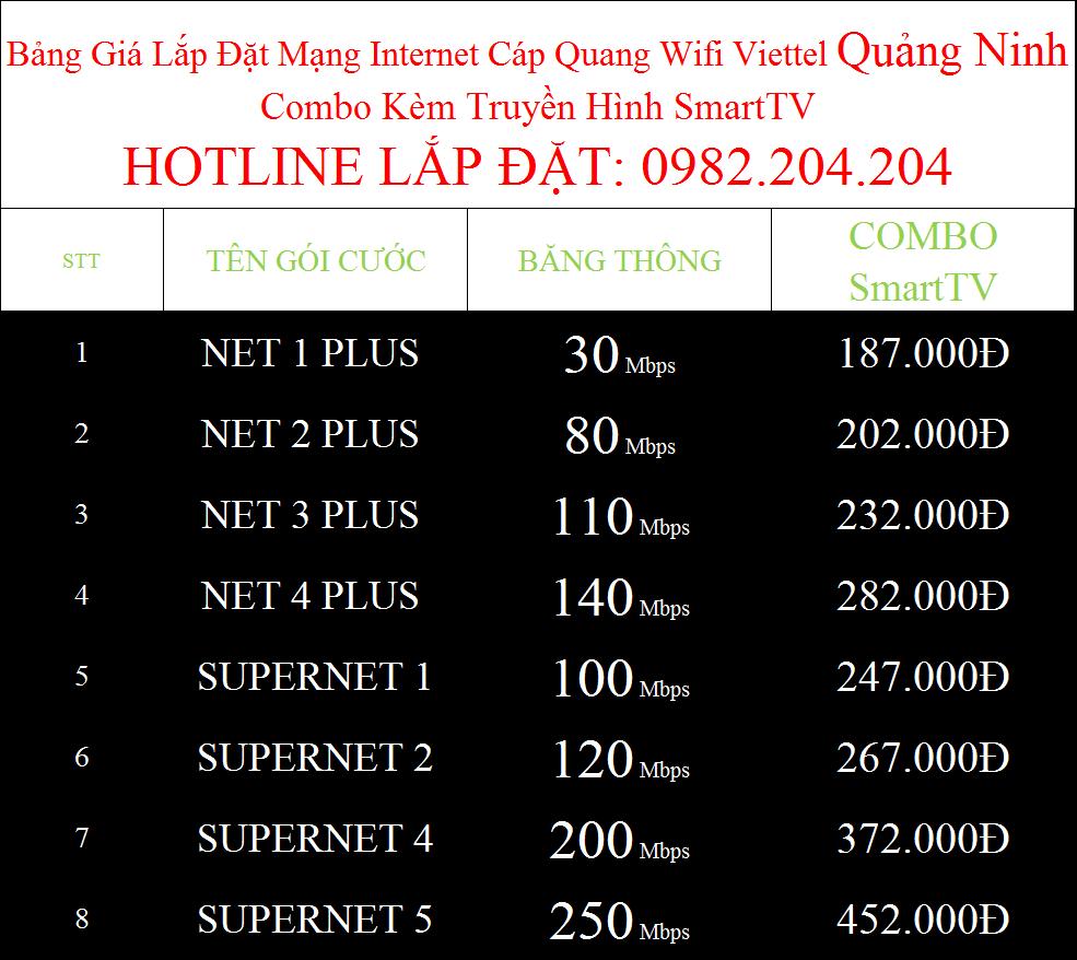 Đăng ký wifi Viettel Quảng Ninh