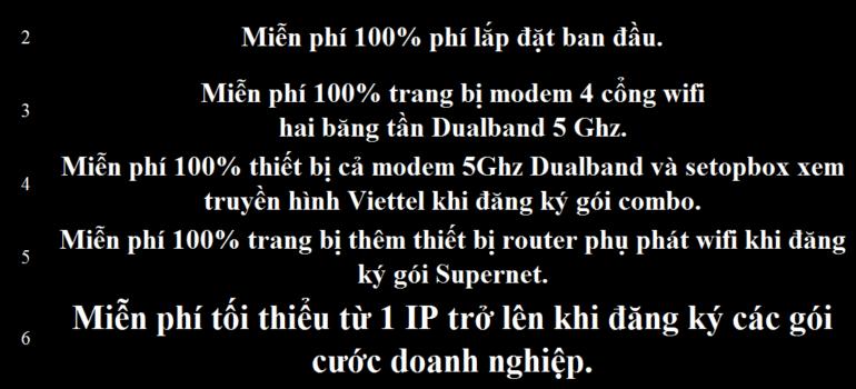 Khuyến Mãi Đăng Ký Lắp Đặt Mạng Internet Cáp Quang Wifi Viettel Ninh Bình 2021