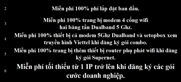 Khuyến Mãi Đăng Ký Lắp Đặt Mạng Internet Cáp Quang Wifi Viettel Tuyên Quang 2021