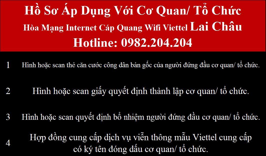 Khuyến mãi internet wifi Viettel Lai Châu