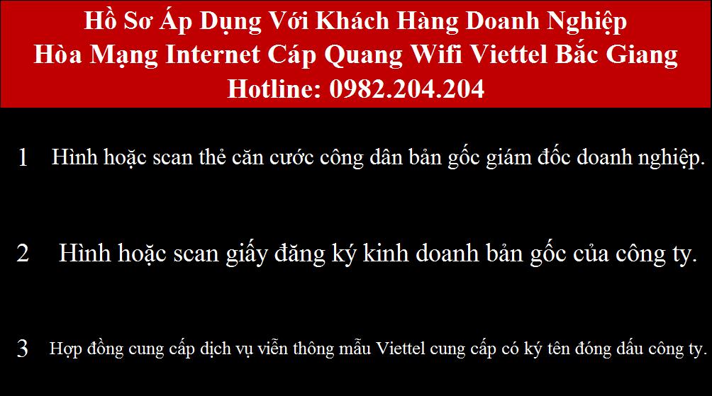 Lắp cáp quang Viettel Bắc Giang