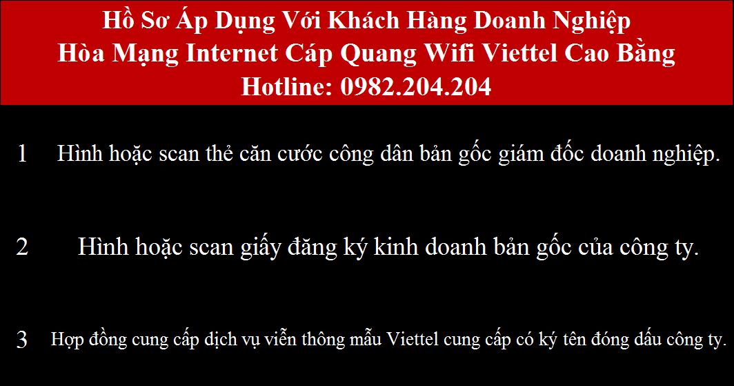 Lắp cáp quang Viettel Cao Bằng