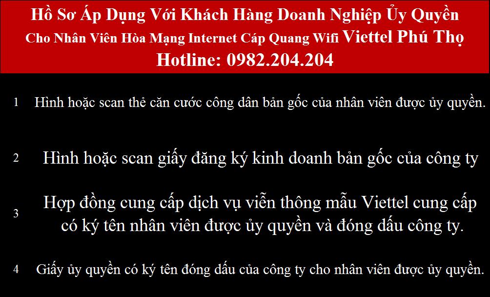 Lắp cáp quang Viettel Phú Thọ