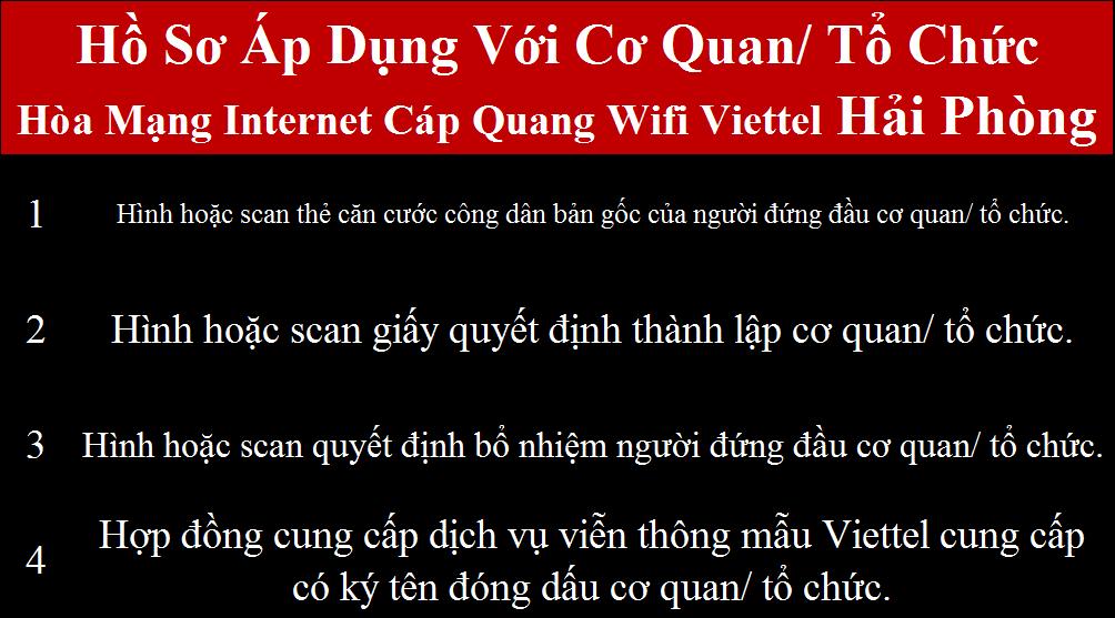 Lắp internet Viettel An Lão Hải Phòng