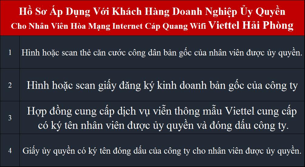 Lắp internet Viettel Đồ Sơn Hải Phòng Doanh Nghiệp Ủy Quyền