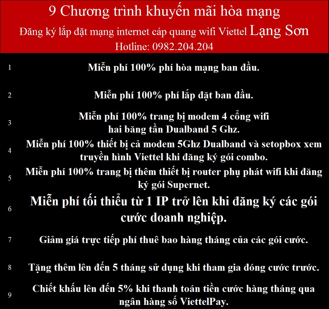 Lắp internet Viettel Lạng Sơn