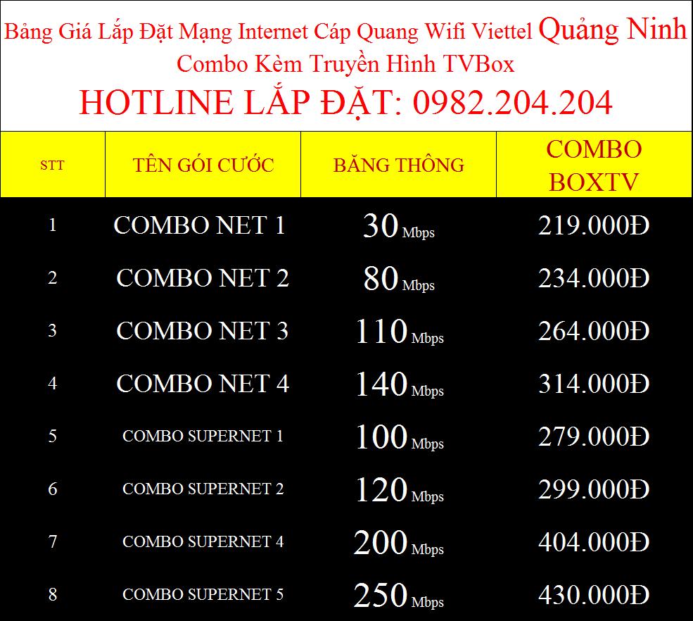 Lắp internet Viettel Quảng Ninh