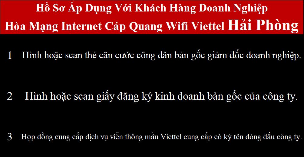 Lắp mạng Viettel An Lão Hải Phòng