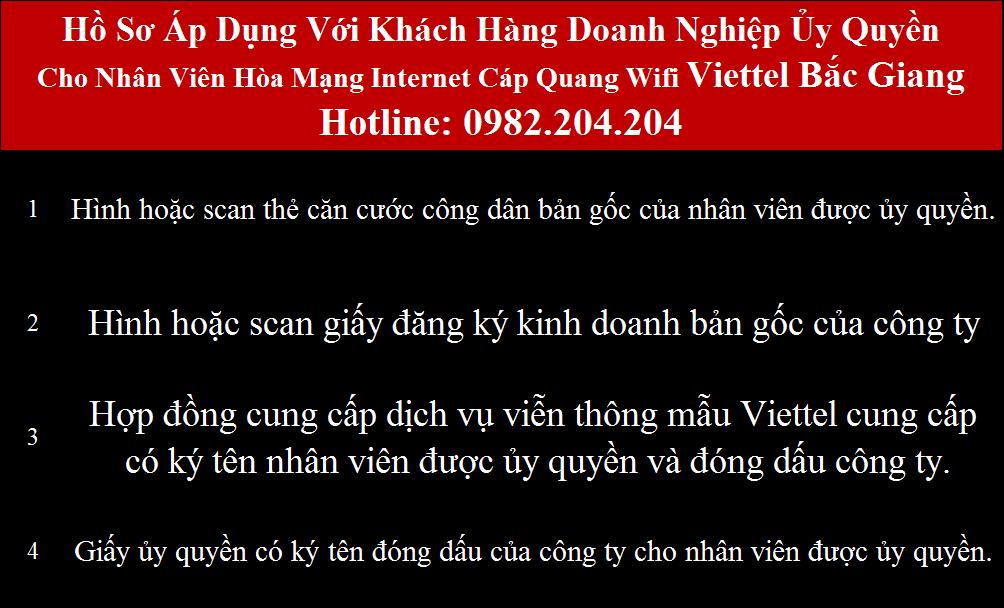 Lắp mạng Viettel Bắc Giang