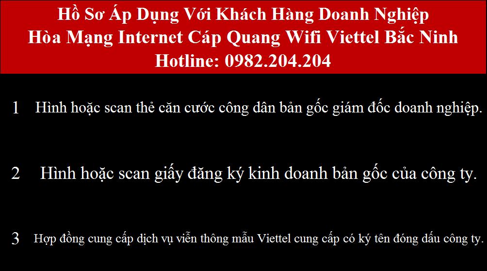 Lắp mạng Viettel Bắc Ninh