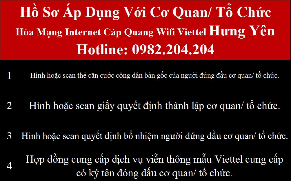 Lắp mạng Viettel Hưng Yên