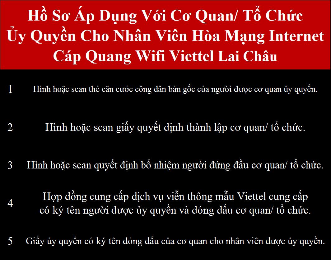 Lắp mạng Viettel Lai Châu