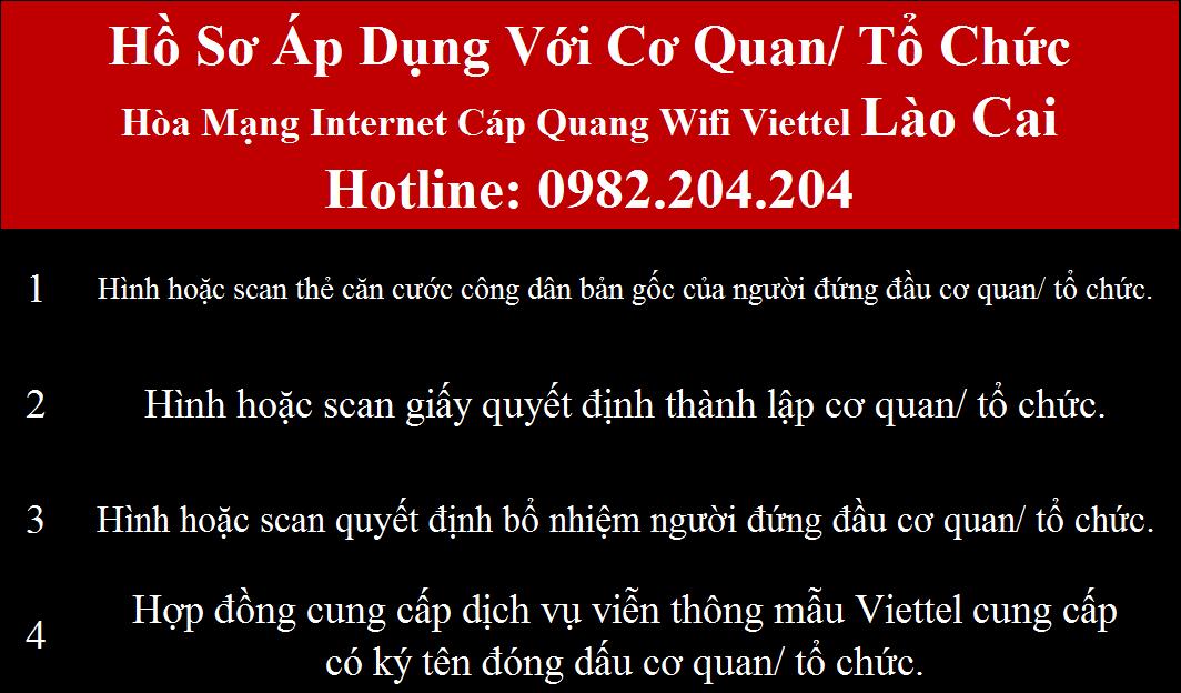 Lắp mạng Viettel Lào Cai