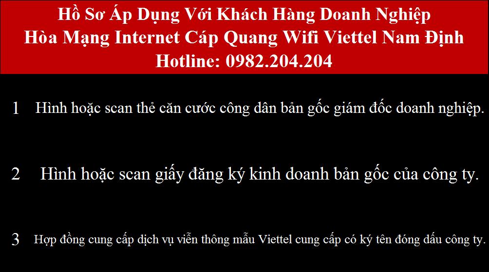 Lắp mạng Viettel Nam Định