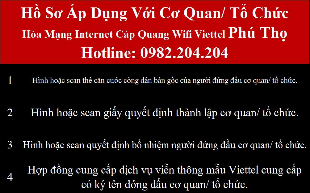 Lắp mạng Viettel Phú Thọ
