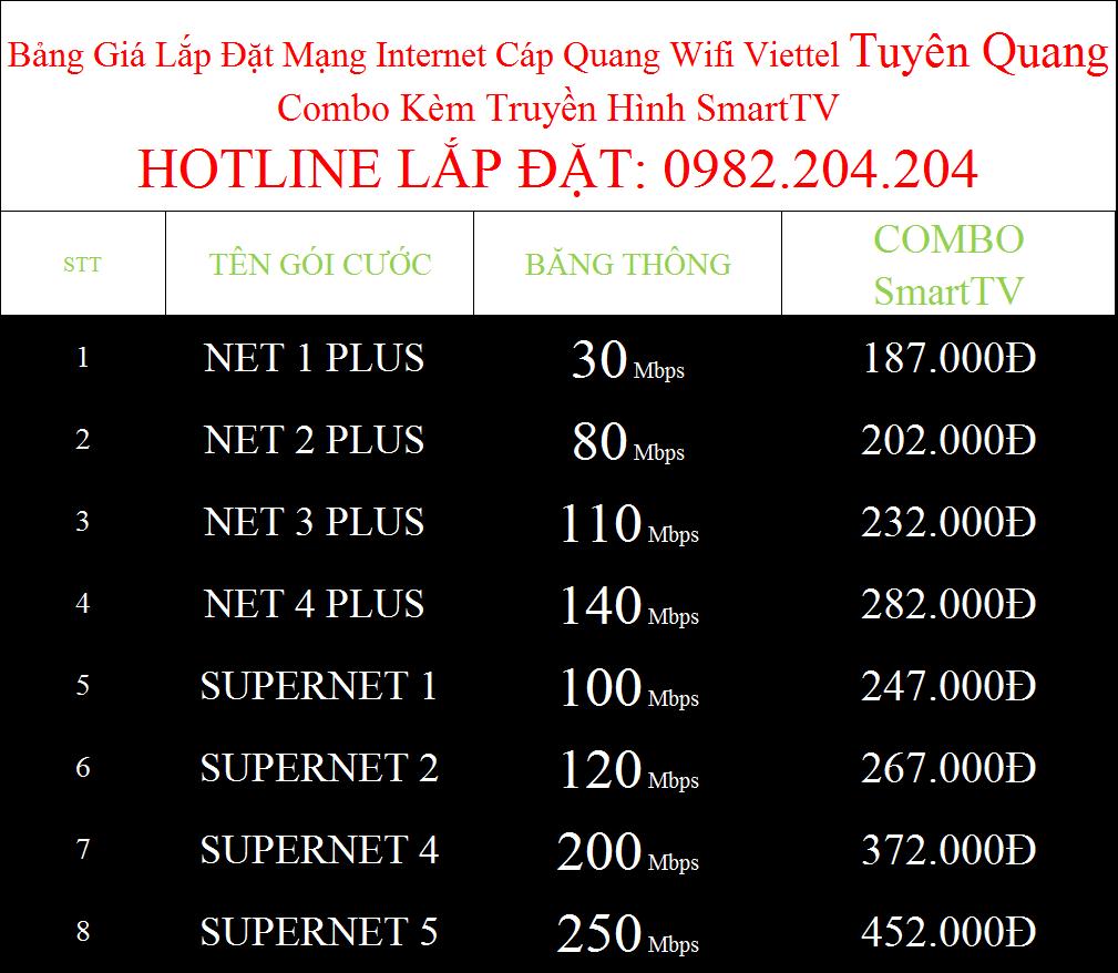 Lắp mạng Viettel Tuyên Quang