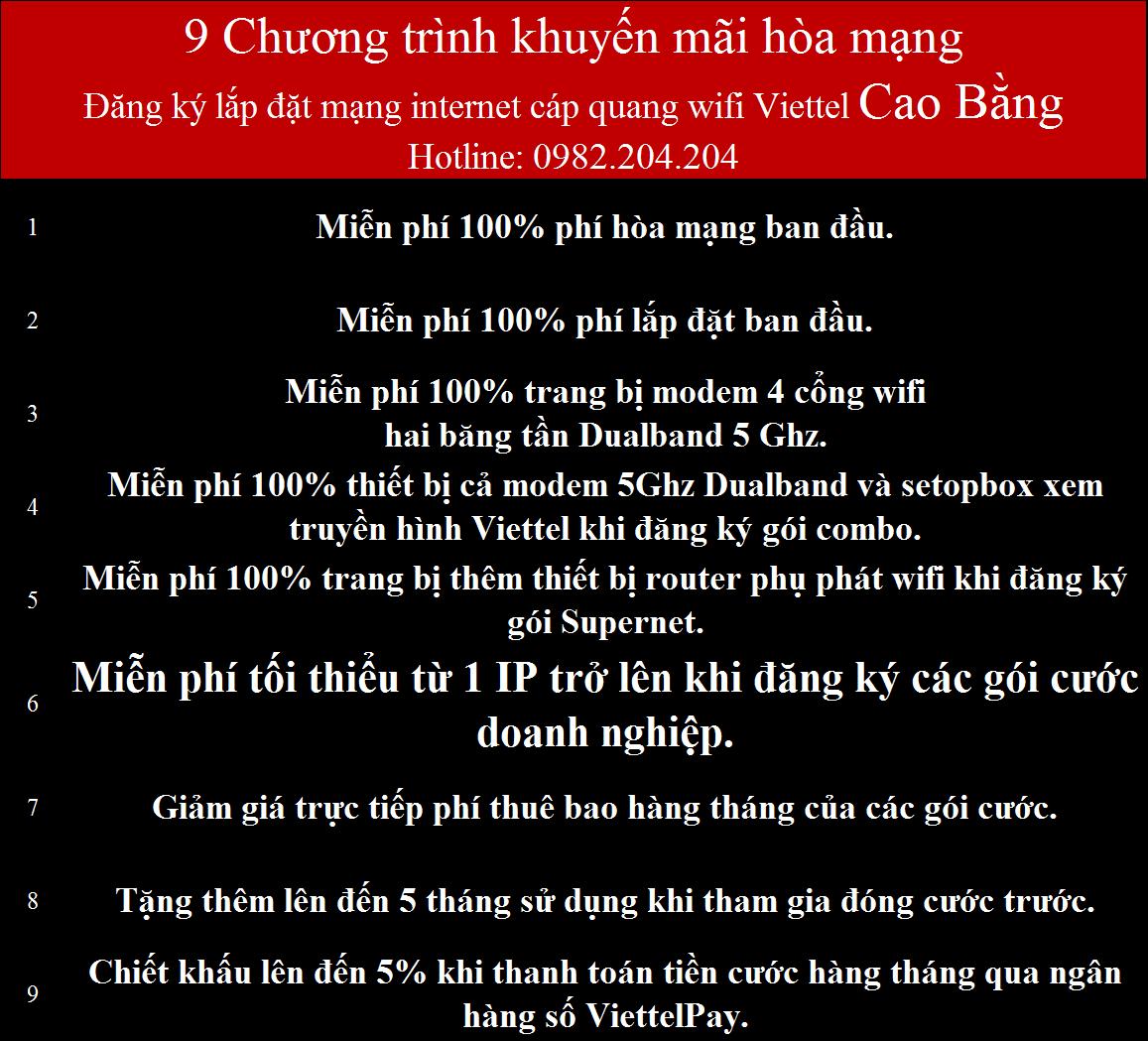 Lắp mạng internet cáp quang wifi Viettel Cao Bằng