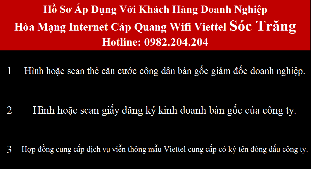 Lắp mạng internet cáp quang wifi Viettel tại Sóc Trăng