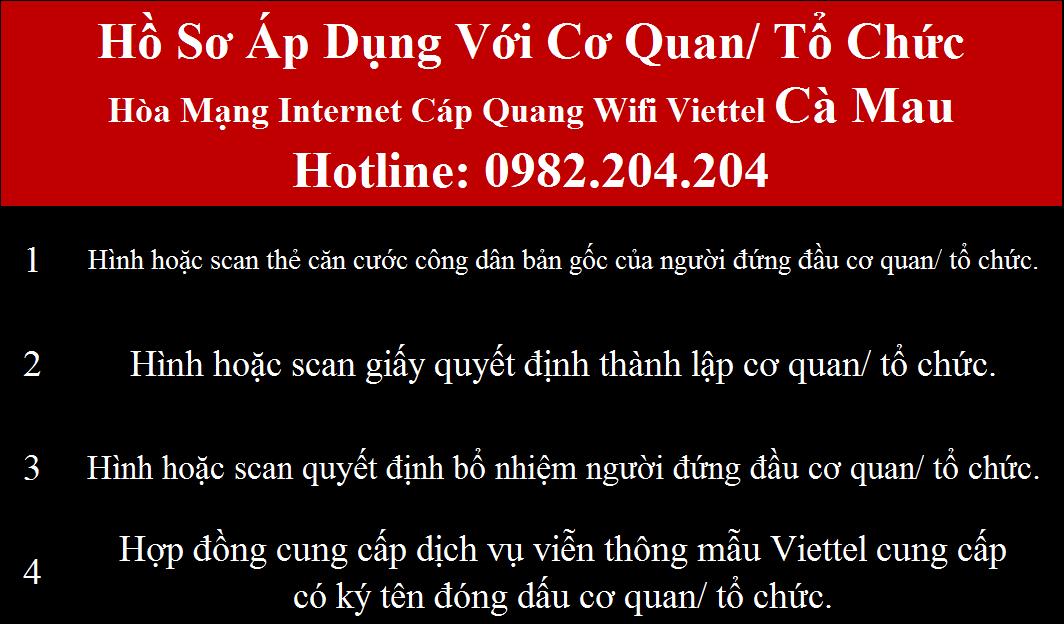 Lắp wifi Viettel Cà Mau