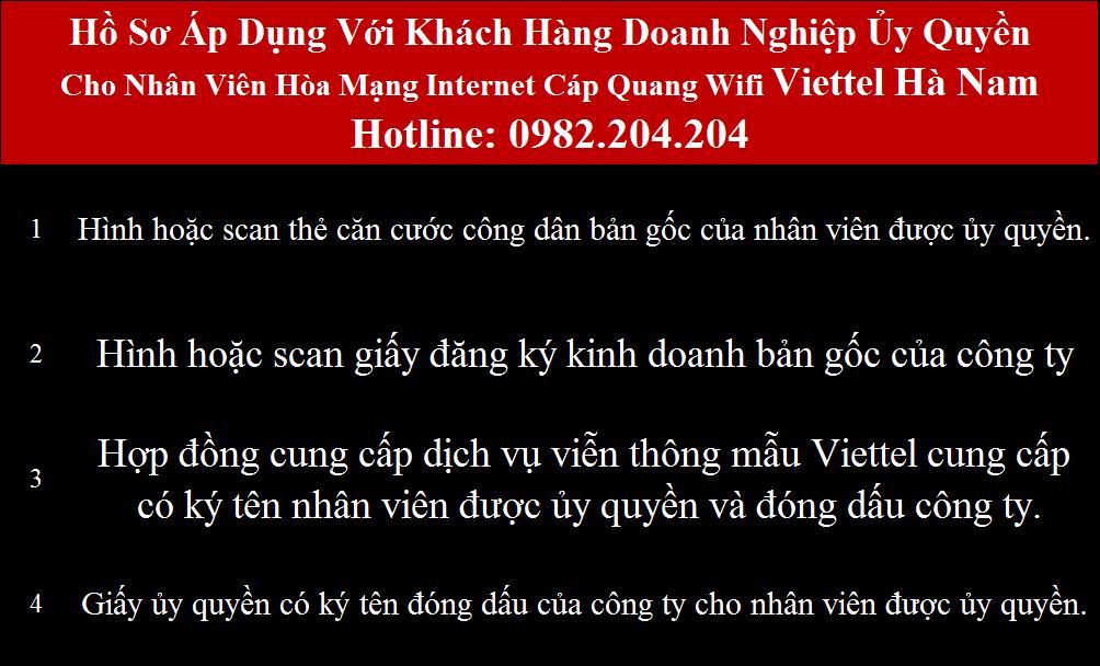 Lắp wifi Viettel Hà Nam