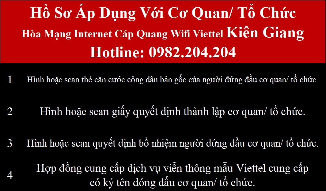 Lắp wifi Viettel Kiên Giang