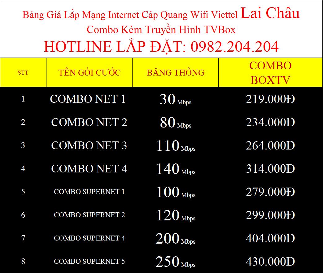 Lắp wifi Viettel Lai Châu