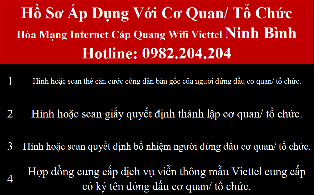 Lắp wifi Viettel Ninh Bình